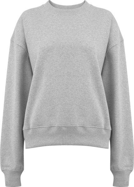 Schweres Sweatshirt aus Biobaumwolle - melange grey