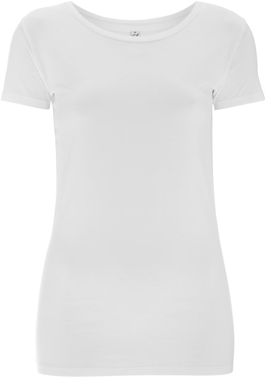 c1d7f779562b82 Stretch T-Shirt für Damen weiß - 96% Baumwolle 4% Elastan ...