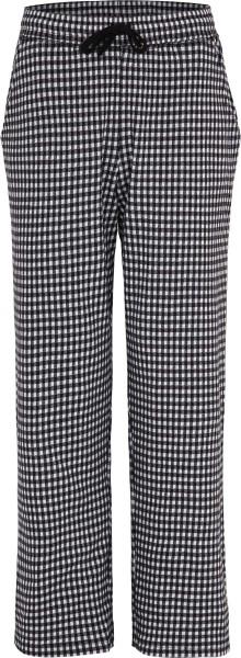 Relax-Hose aus Bio-Baumwolle - schwarz-grau-natur