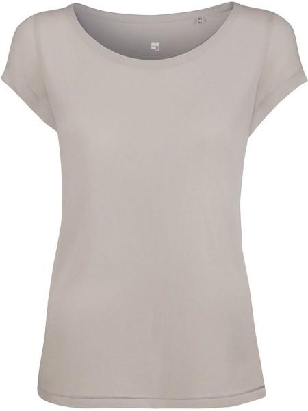 Boatneck T-Shirt aus Modal - grey violet