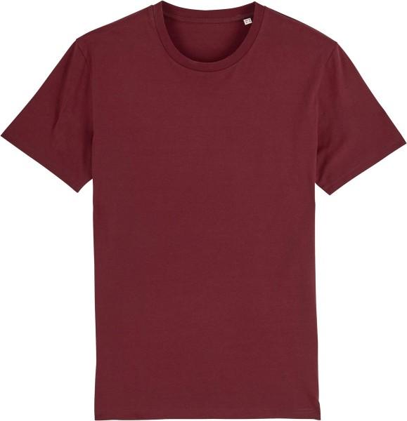 T-Shirt aus Bio-Baumwolle - burgundy