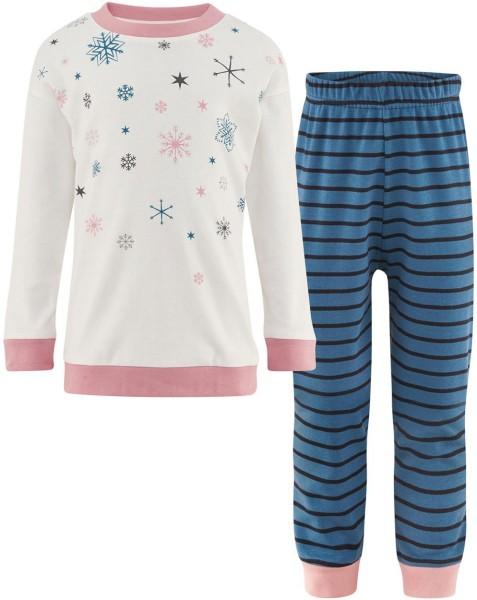 Mädchen Schlafanzug Bio-Baumwolle Sterne GOTS