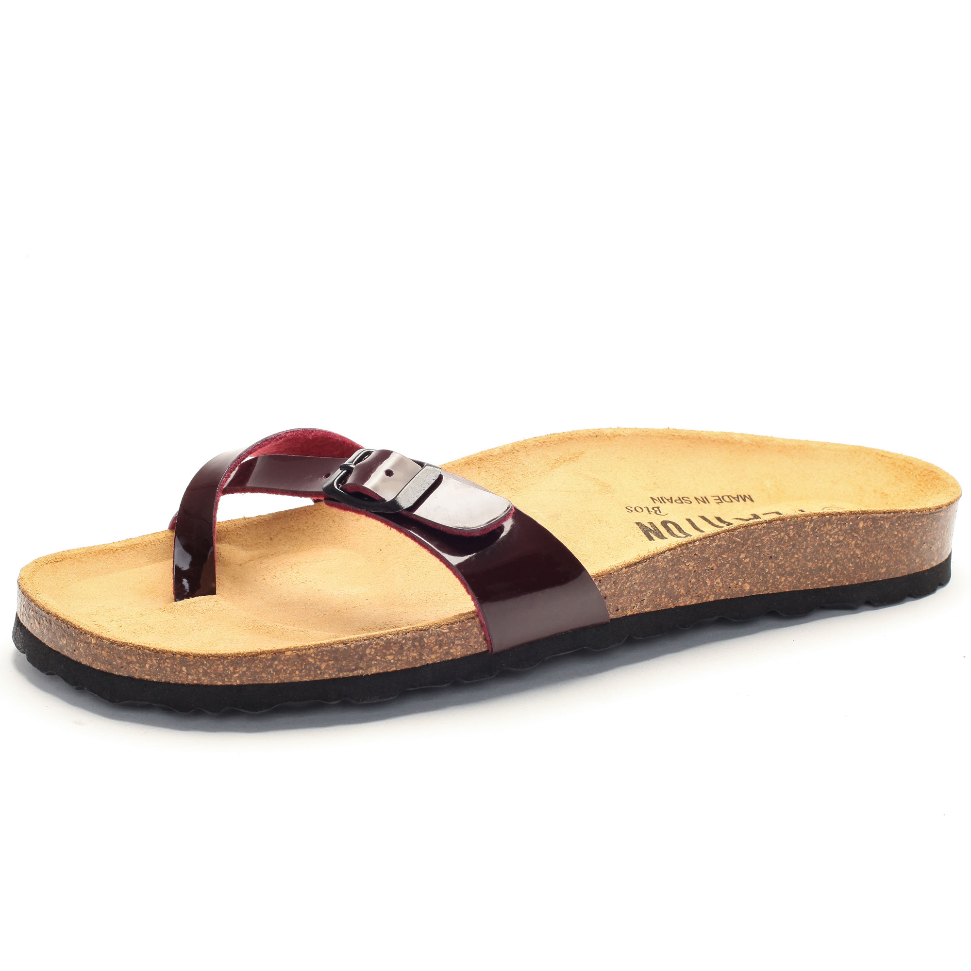 8b239cf8d458f4 Bequeme Sandale mit Zehentrenner von Plakton in bordeaux ...