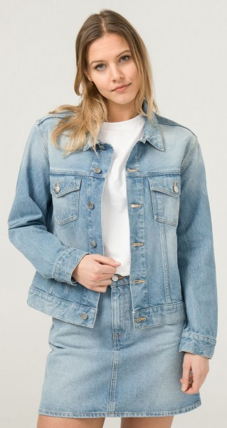 Jeansjacke aus Bio-Baumwolle und recycelter Baumwolle - Heavy Stone