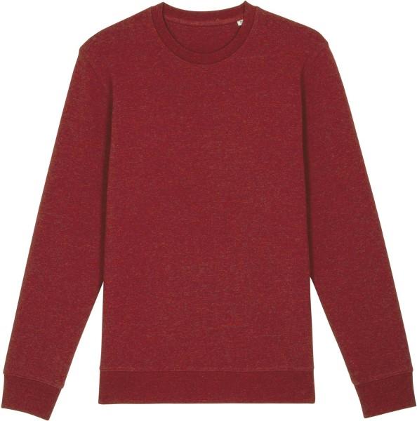 Unisex Sweatshirt aus Bio-Baumwolle - heather neppy burgundy