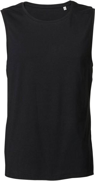 Surfs - Ärmelloses T-Shirt aus Bio-Baumwolle - schwarz