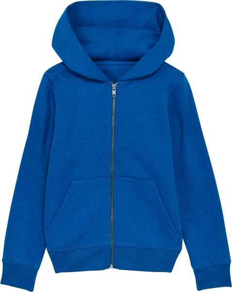 Kinder Kapuzenjacke aus Bio-Baumwolle - mid heather royal blue