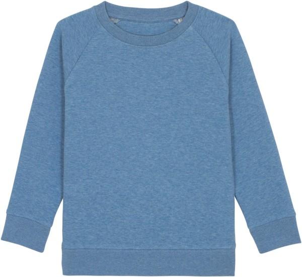 Kinder Sweatshirt aus Bio-Baumwolle - mid heather blue