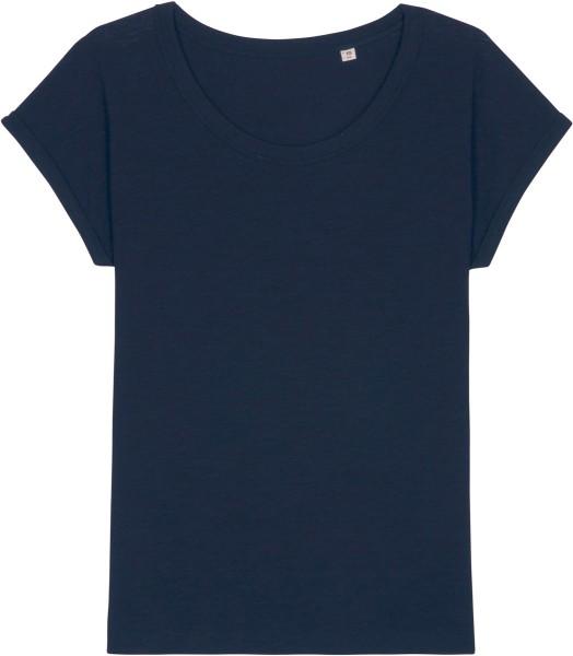 Slub T-Shirt aus Bio-Baumwolle - french navy
