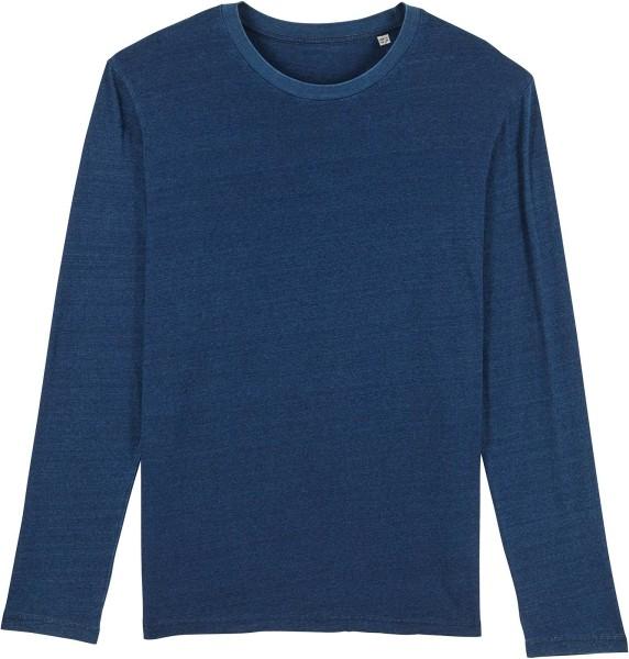 Longsleeve aus Bio-Baumwolle - mid washed indigo