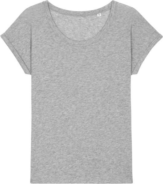 Slub T-Shirt aus Bio-Baumwolle - heather grey slub