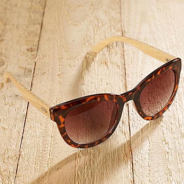 """Sonnenbrille """"Alicante Panter"""" - hergestellt aus recyceltem Kunststoff und Bambus"""