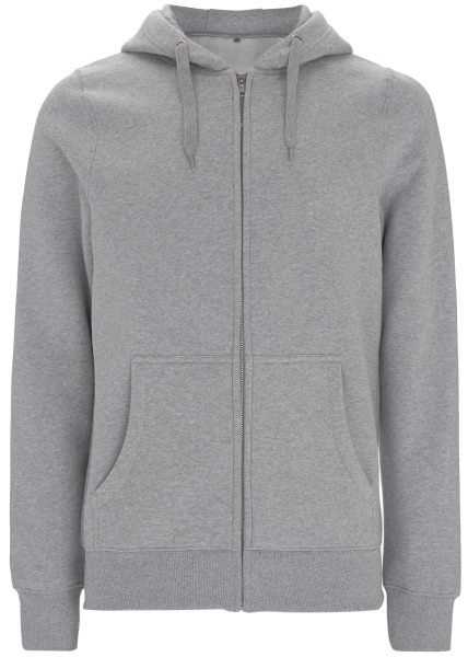Zip-Up-Hoodie grau meliert fair
