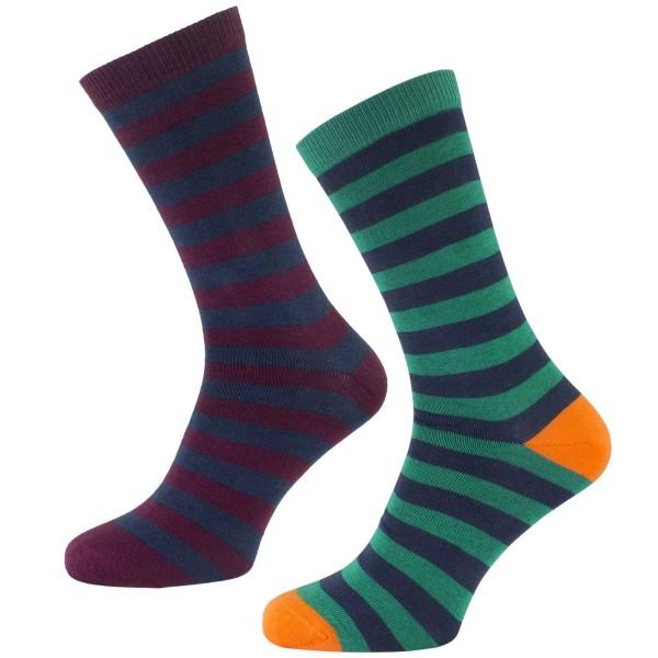 Socken aus Bio-Baumwolle - 2er-Pack - gestreift