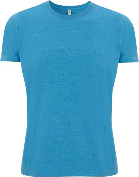 Recycled T-Shirt aus Baumwolle und Polyester - melange blue