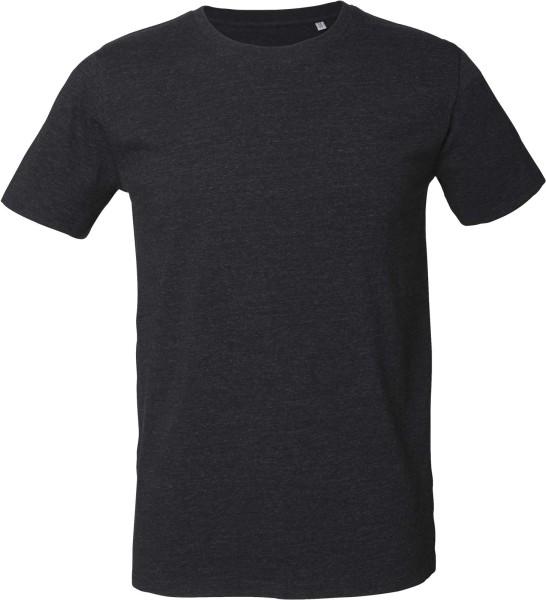 Leads - T-Shirt aus Bio-Baumwolle - heather black denim