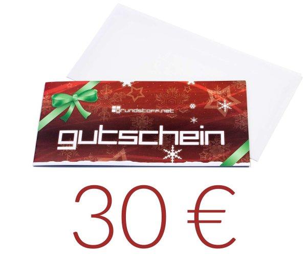 30,- EUR Geschenkgutschein - Weihnachtsdesign - Bild 1