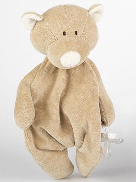 Schmuse-Teddy mit Schnullerhalter - Bio-Baumwolle - Bild 1
