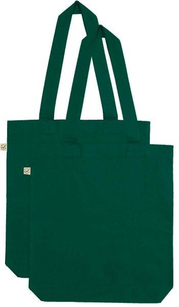 Doppelpack - Organic Cotton Bag - bottle green
