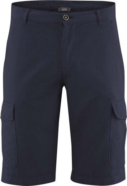 Bermuda-Shorts aus Bio-Baumwolle und Bio-Leinen - ink blue
