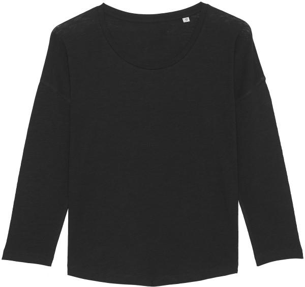 3/4-Arm-Shirt aus Bio-Baumwolle - black