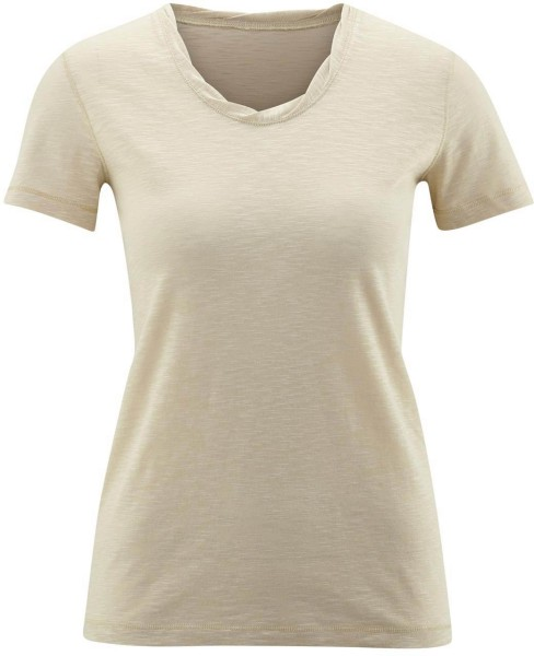 Twisted Neckline T-Shirt aus Biobaumwolle - beach - Bild 1