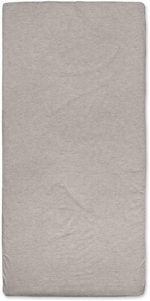 Spannbetttuch aus Bio-Baumwolle 100x200 cm - brown melange