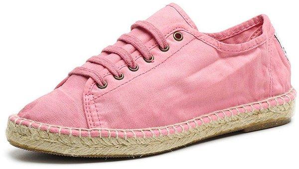 Basket Yute - Schnürschuhe aus Bio-Baumwolle - rosa - Bild 1