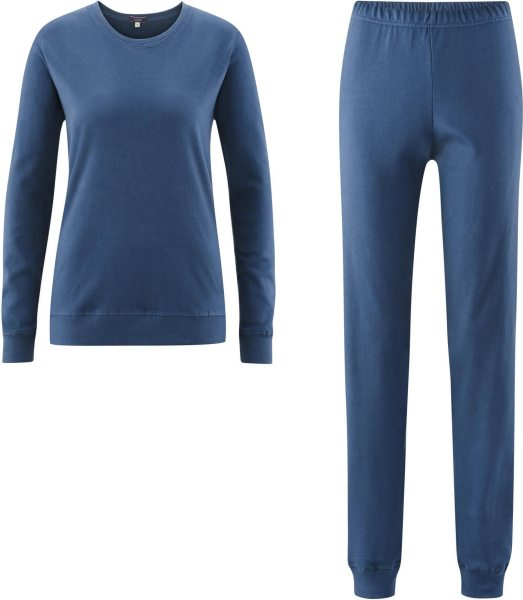 Frauen Schlafanzug aus Bio-Baumwolle - blue shadow