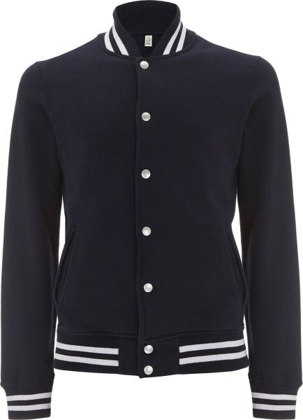 Varsity Jacket - College-Jacke aus Biobaumwolle - navy - Bild 1
