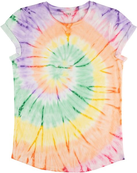 Organic Rolled Sleeve T-Shirt - tie dye