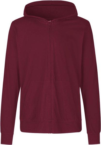 Jersey Zip-Jacke bordeaux Biobaumwolle - O62301