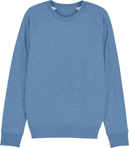 Sweatshirt aus Bio-Baumwolle - mid heather blue