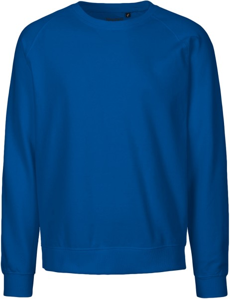 Sequel Sparkle Morning exercises  Blauer Unisex Pullover aus Fairtrade Biobaumwolle | grundstoff.net