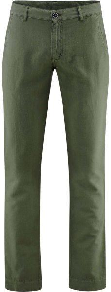 Hose aus Bio-Leinen und Bio-Baumwolle - olive