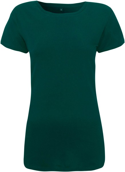 Regular Fit T-Shirt mit weitem Halsausschnitt - bottle green
