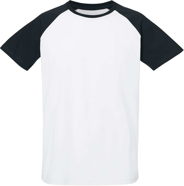 Baseball Short Sleeve - T-Shirt aus Bio-Baumwolle - white/black