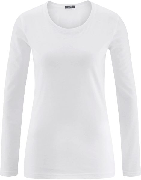 Longsleeve aus Bio-Baumwolle - white