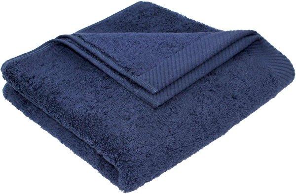 Flauschiges Handtuch aus Bio-Baumwolle - 50x100 dunkelblau