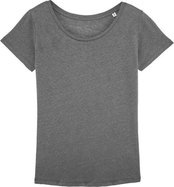 Loves Linen - T-Shirt aus Leinen - linen grey - Bild 1