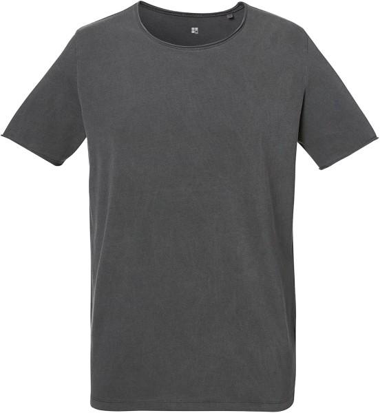umweltfreundliches Vintage-Shirt in dunkelgrau aus zertifizierter Biobaumwolle