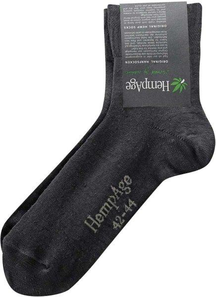 Leichte Socken aus Hanf schwarz