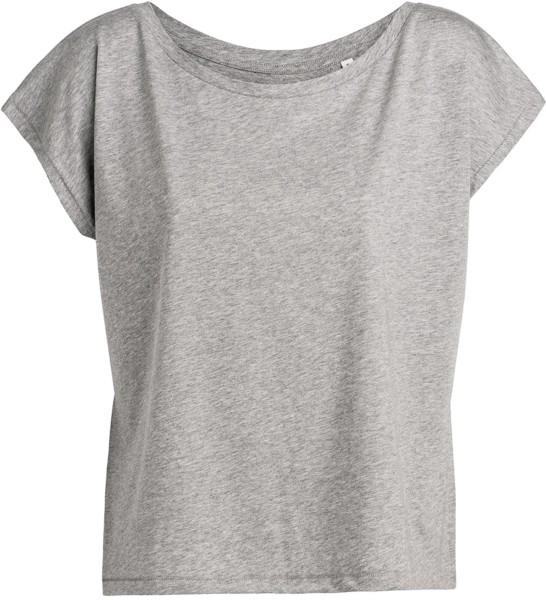 Flies - Weites T-Shirt mit U-Ausschnitt - grau meliert