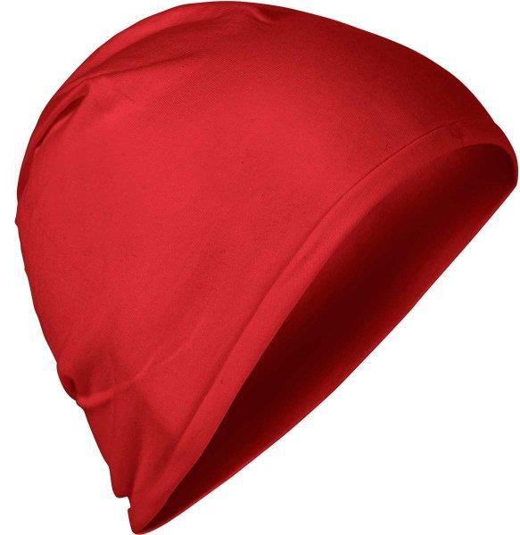 Fairtrade Jersey-Mütze aus Bio-Baumwolle - rot