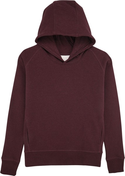 Hoodie mit Raglanärmeln - heather grape red