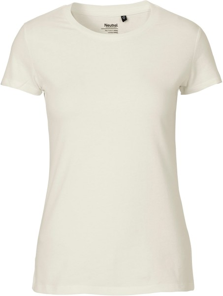 Fitted T-Shirt aus Fairtrade Bio-Baumwolle - natural
