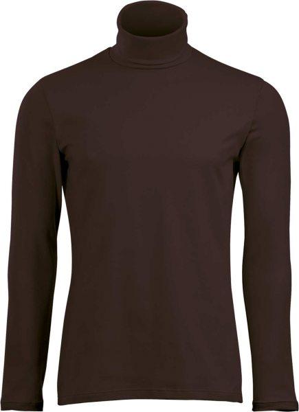 Rollkragen-Langarmshirt - moccha