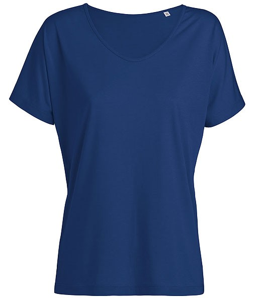 Designs Tencel - Weites V-Neck T-Shirt - deep royal blue - Bild 1