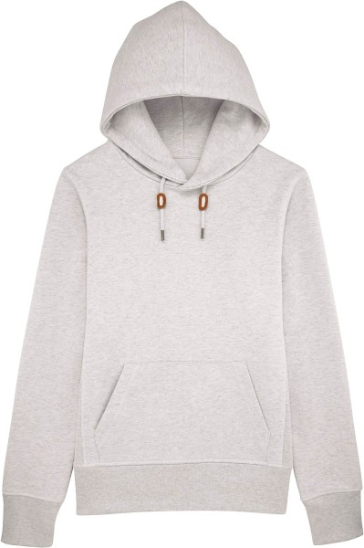 Tell - Extra schwerer Hoodie aus Bio-Baumwolle - cream heather grey