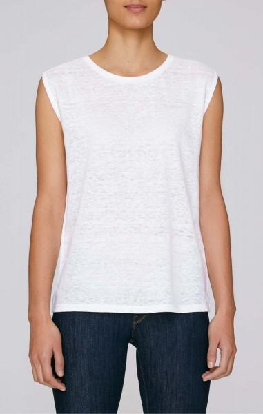 Sparkles Linen - T-Shirt aus Leinen - weiss - Bild 1